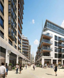 Thumbnail 1 bed flat for sale in Vista Apartments, Dickens Yard, New Broadway, Ealing, London