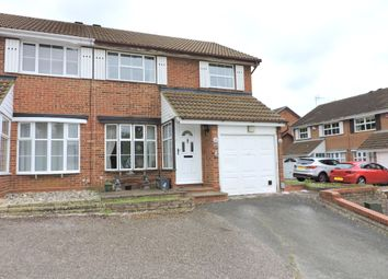 Thumbnail 3 bed semi-detached house for sale in Corinium Gardens, Luton