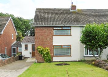 Thumbnail 4 bed semi-detached house for sale in Downfield Close, Llandough, Penarth
