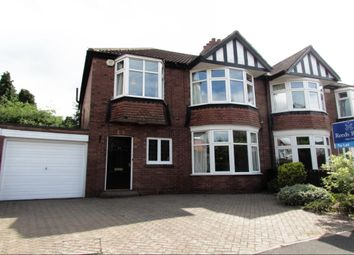 Thumbnail 3 bed semi-detached house to rent in Polwarth Crescent, Gosforth, Newcastle Upon Tyne