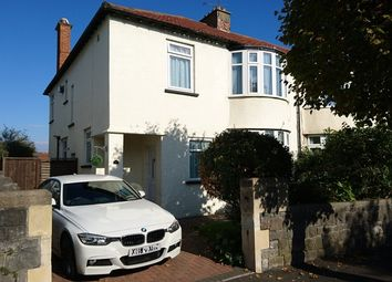 Thumbnail 4 bed semi-detached house for sale in Quantock Road, Weston-Super-Mare, Somerset