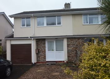Thumbnail 3 bedroom semi-detached house to rent in Fletcher Close, Torquay