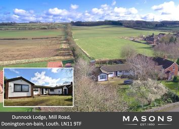 Thumbnail 3 bed detached bungalow for sale in Mill Road, Donington-On-Bain, Louth