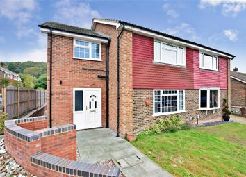 Thumbnail 4 bed semi-detached house for sale in Templeside, Temple Ewell, Dover, Kent