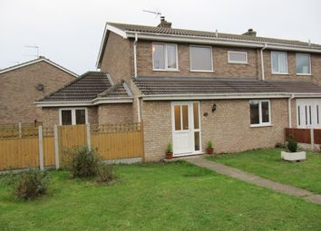 Thumbnail 3 bed semi-detached house for sale in Jasmine Gardens, Bradwell, Great Yarmouth