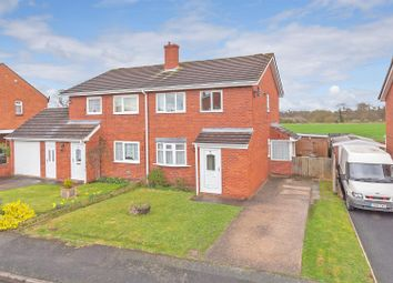 Thumbnail 3 bedroom semi-detached house for sale in Glebelands, Shawbury, Shrewsbury