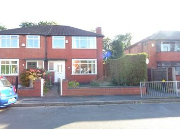 Thumbnail 3 bed semi-detached house to rent in Trevor Road, Manchester