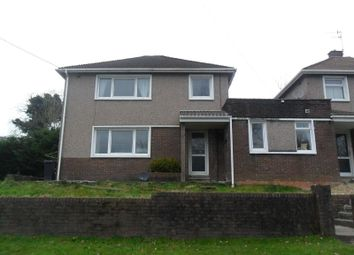 Thumbnail 3 bed link-detached house for sale in Cilmaengwyn Road, Pontardawe, Swansea.