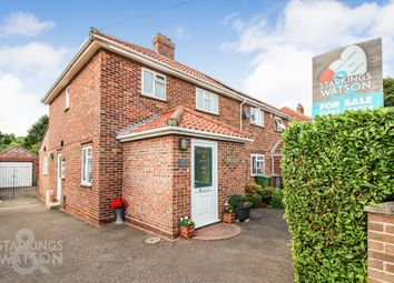 Thumbnail 3 bed semi-detached house for sale in Drayton Wood Road, Hellesdon, Norwich