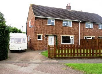 Thumbnail 3 bed semi-detached house for sale in Parnham Close, Nether Broughton, Melton Mowbray