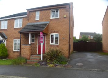 Thumbnail 2 bed semi-detached house to rent in Bracken Road, Shirebrook, Mansfield