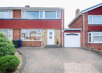 Thumbnail 3 bed semi-detached house for sale in Dundee Close, Chapel Park, Newcastle Upon Tyne