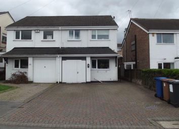 Thumbnail 3 bed semi-detached house for sale in Chase Road, Burntwood, Staffordshire
