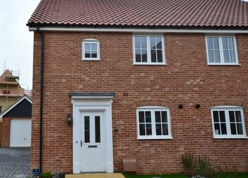 Thumbnail 3 bedroom semi-detached house to rent in Elderberry Close, Ely