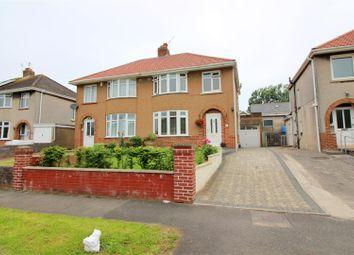 Thumbnail 3 bed semi-detached house for sale in Fairfield Road, Bridgend