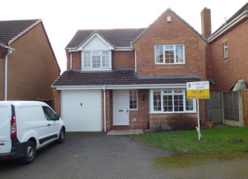 Thumbnail 4 bedroom detached house to rent in Hawthorn Close, Measham, Swadlincote