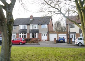 Thumbnail 3 bed semi-detached house for sale in Dukes Meadow, Woolsington, Newcastle Upon Tyne