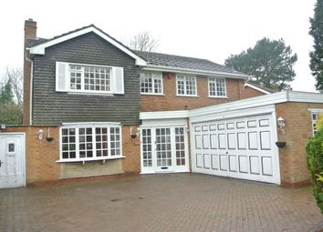 Thumbnail 4 bedroom detached house to rent in Claverdon Drive, Little Aston, Sutton Coldfield