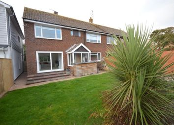 Thumbnail 3 bed semi-detached house to rent in Salterton Road, Exmouth, Devon