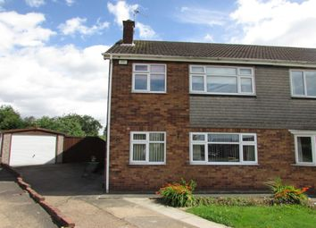 Thumbnail 3 bed semi-detached house for sale in Stuart Close, Bottesford, Scunthorpe