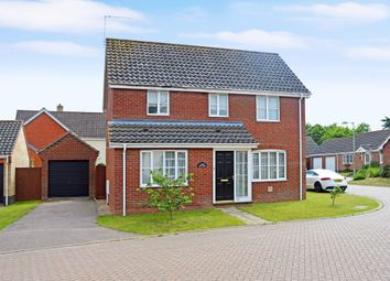 Thumbnail 3 bed detached house for sale in Copplestone Close, Worlingham, Beccles