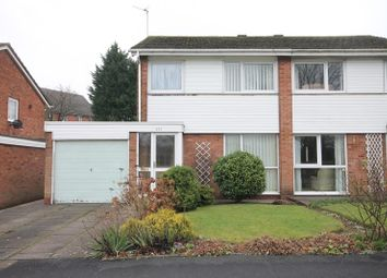 Thumbnail 3 bed semi-detached house for sale in Rowood Drive, Solihull