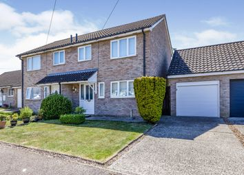 Thumbnail 3 bed semi-detached house for sale in Mortimer Close, Attleborough