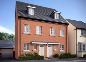 """Thumbnail 3 bed semi-detached house for sale in """"The Greetham"""" at Bedford Road, Great Barford, Bedford"""