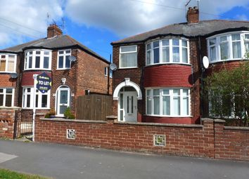 Thumbnail 3 bed semi-detached house to rent in Kingston Road, Willerby, Hull