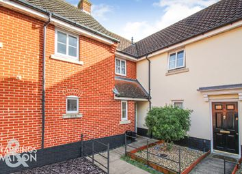 Thumbnail 3 bed end terrace house for sale in Petersfield Close, Long Stratton, Norwich