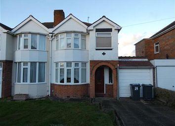Thumbnail 3 bed semi-detached house to rent in Mardon Road, Sheldon, Birmingham