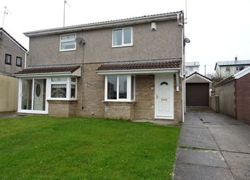 Thumbnail 2 bedroom semi-detached house to rent in Ffos Y Cerridden, Nelson, Treharris