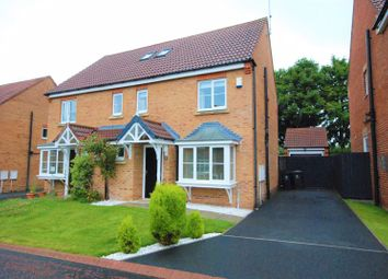 Thumbnail 4 bed semi-detached house for sale in Towneley Court, Prudhoe