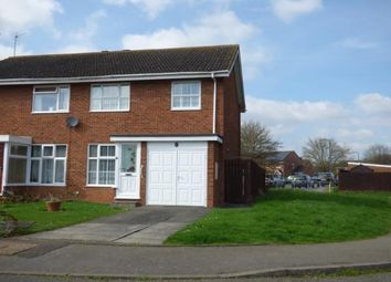 Thumbnail 3 bed semi-detached house for sale in Swift Close, Newport Pagnell, Milton Keynes, Bucks