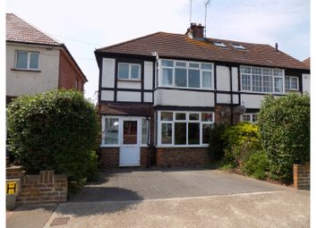 Thumbnail 3 bed semi-detached house for sale in Reigate Road, Worthing