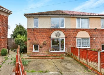 Thumbnail 2 bed semi-detached house for sale in Mendham Close, Norwich