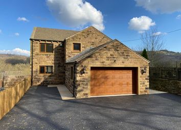 Thumbnail 5 bed detached house for sale in Riverside View, Woodhead Road, Honley