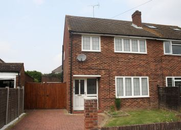 Thumbnail 3 bed semi-detached house to rent in Norton Road, Woodley, Reading