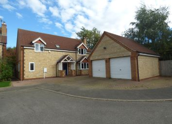 Thumbnail 4 bed detached house for sale in Mussons Close, Corby Glen, Grantham