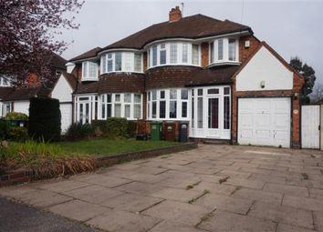 Thumbnail 3 bed semi-detached house for sale in Marlborough Road, Castle Bromwich, Birmingham
