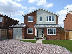 Thumbnail 4 bedroom detached house to rent in Broad Lane, Trevalyn, Rossett, Wrexham