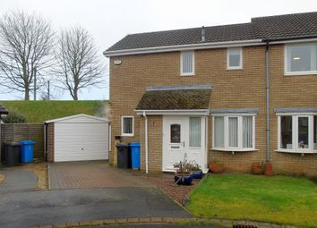 Thumbnail 2 bed semi-detached house for sale in Dilston Close, Pegswood, Morpeth