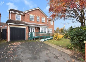Thumbnail 5 bed detached house for sale in Saxton Court, Garforth, Leeds