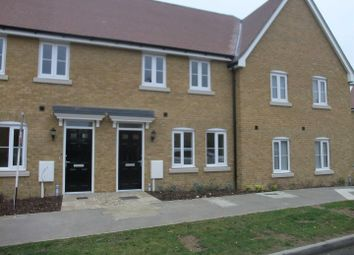 Thumbnail 3 bed terraced house to rent in Plover Road, Priory Meadow, Sheerness
