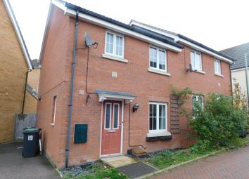 Thumbnail 3 bed semi-detached house for sale in Nuthatch Close, Stowmarket