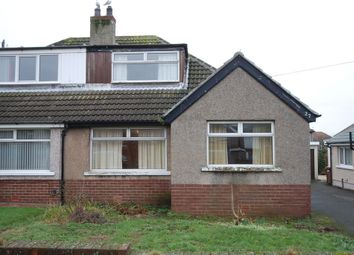 Thumbnail 3 bed semi-detached bungalow for sale in Cowlarns Road, Barrow-In-Furness, Cumbria