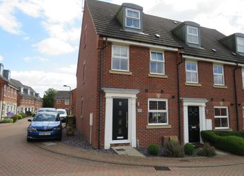 Thumbnail 3 bedroom town house for sale in Hillside Gardens, Wittering, Peterborough