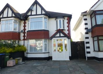 Thumbnail 3 bed semi-detached house to rent in Rosslyn Crescent, Wembley