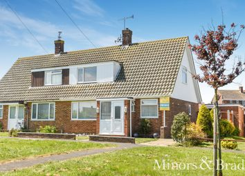 Thumbnail 3 bed semi-detached bungalow for sale in George Beck Road, Winterton-On-Sea, Great Yarmouth
