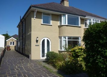 Thumbnail 4 bed semi-detached house for sale in Belmont Road, Bangor, Gwynedd